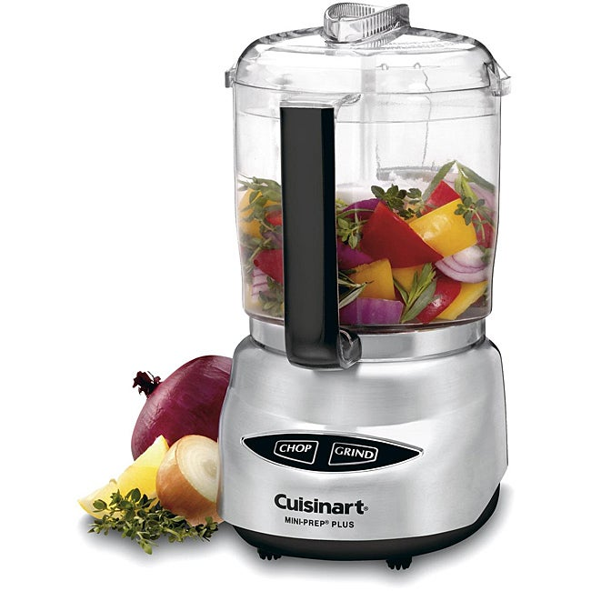 Cuisinart DLC-4CHB Mini-prep Plus Brushed Stainless Steel 4-cup Food Processor
