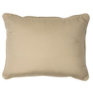 Canvas Antique Beige Corded Outdoor Pillows (Set of 2)