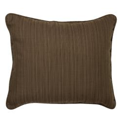 Textured Walnut Corded Outdoor Pillows (Set of 2)