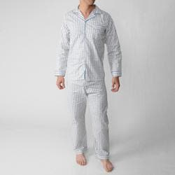 Ten West by Daxx Men's Two-Piece Long-Sleeve Cotton/Polyester Pajama Set