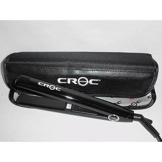 Croc Baby 0.625-inches Dual-voltage Black Mini Flat Iron