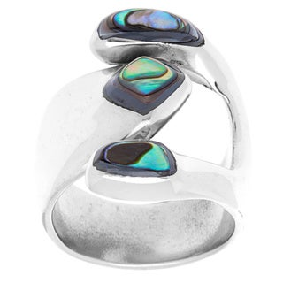 Handcrafted Abalone Attitude Silver Ring (Mexico)
