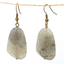 Nickel-free Brass Labradorite Earrings (China)
