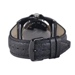 Hector H France Men's 'Fashion' Leather Strap Quartz Watch