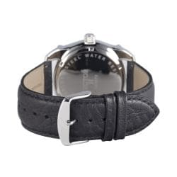 Hector H France Men's 'Fashion' Black-Dial Stainless-Steel Quartz Watch