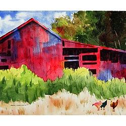 Ed Wade, Jr. 'The Red Barn' Art Print