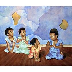 Ed Wade, Jr. 'Teach Me To Pray' Art Print