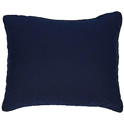 Canvas Navy Knife-edge Indoor/ Outdoor Pillows with Sunbrella Fabric (Set of 2)