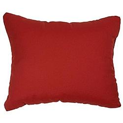 Canvas Jockey Red Knife-edge Indoor/ Outdoor Throw Pillows with Sunbrella Fabric (Set of 2)