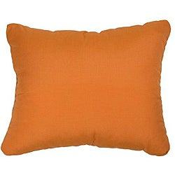 Textured Tangerine Knife-edge Outdoor Pillows with Sunbrella Fabric (Set of 2)