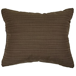 Textured Walnut Knife-edge Outdoor Pillows with Sunbrella Fabric (Set of 2)