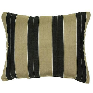 Cocoa/ Black Stripe Knife-edge Indoor/ Outdoor Pillows with Sunbrella Fabric (Set of 2)