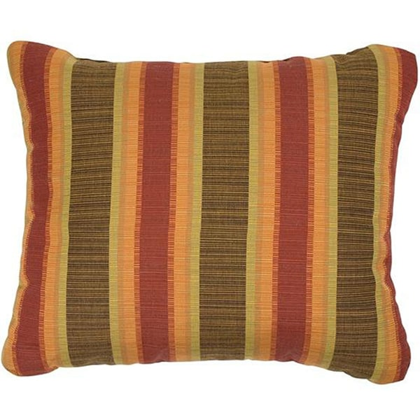 Autumn Stripe Knife edge Indoor Outdoor Pillows with