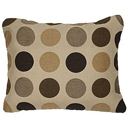 Mojito Coffee Bean Knife-edge Outdoor Pillows with Sunbrella Fabric (Set of 2)