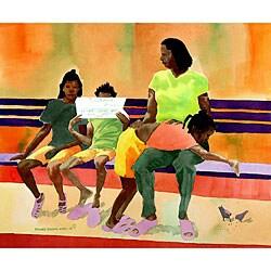 Ed Wade, Jr. 'Headlines' Watercolor Art Print