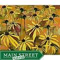 Ed Wade, Jr. 'Gold Flowers' Watercolor Art Print