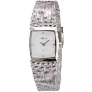 Skagen Women's Denmark Stainless Steel Mesh Chrome Dial Watch