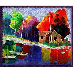 Edward Eugene Wade Jr. 'Autumn Fishers 4' Art Print