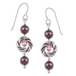 MSDjCASANOVA Argentium Silver Crystallized Pearl Earrings