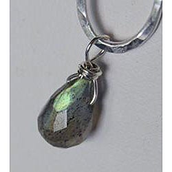 Sterling and Fine Silver Labradorite Necklace