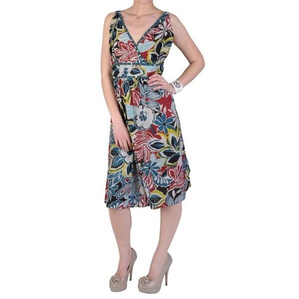 Women's Plus Size Strapless Floral Sundress
