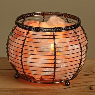 Wbm natural himalayan crystal salt basket lamp overstock for Wbm 7 tall himalayan natural crystal salt lamp