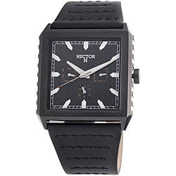 Hector H France Men's 'Fashion' Square Multifunction Watch