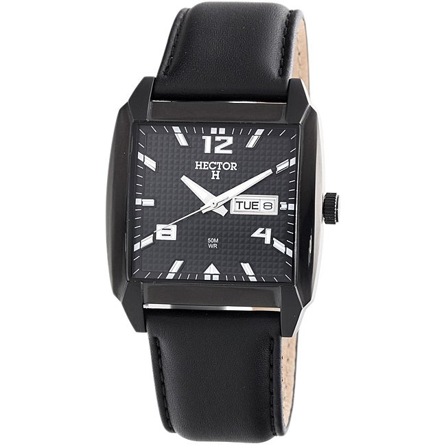 Hector H France Men's 'Fashion' Square Date Watch
