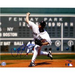 Steiner Sports Autographed Curt Schilling Red Sox First Game vs Yankees Scoreboard Photograph