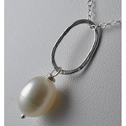 Sterling and Fine Silver Freshwater Pearl Necklace (12 mm)