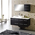 Tiffany 55-inch Single-sink Oak Bathroom Vanity