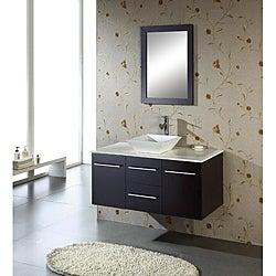 Christy 47-inch Single-sink Oak Bathroom Vanity