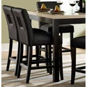 Mendoza Black Keyhole Counter Height Stools (Set of 2)