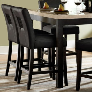 TRIBECCA HOME Mendoza Black Keyhole Counter Height Stools (Set of 2)