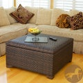 Christopher Knight Home Wicker Brown Indoor/ Outdoor Storage Ottoman