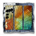 Megan Duncanson 'Summer Palms' Metal Wall Art
