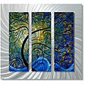 Megan Duncanson 'Indigo Evolution' Metal Wall Art