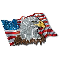 Ash Carl 'The Patriotic Eagle' Metal Wall Art