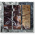 Ruth Palmer 'Calming Leaves' Metal Wall Art