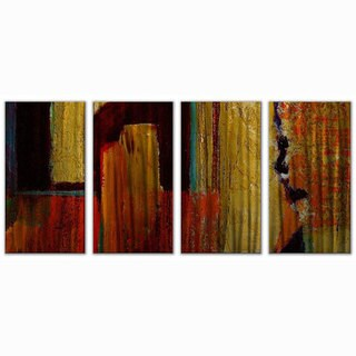 Ruth Palmer 'Muted Primary' 4-piece Metal Wall Art Set