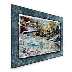 Pol Ledent 'River' Metal Wall Art