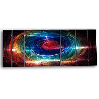 Ash Carl 'Distance' 7-panel Abstract Metal Wall Art