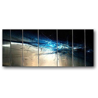 Ash Carl 'Forever' 7-panel Abstract Metal Wall Art