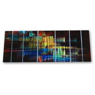 Ash Carl 'Abstractor' 7-panel Abstract Metal Wall Art