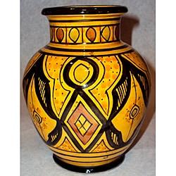 Handcrafted Ceramic Petite Sophia Vase (Morocco)