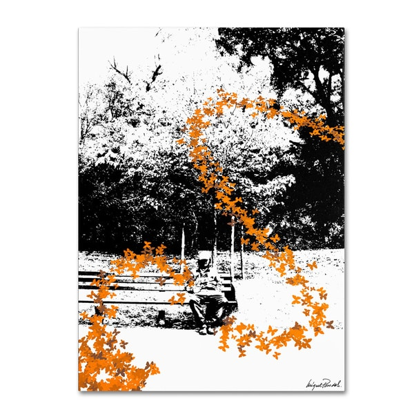 Miguel Paredes 'Orange Butterflies' Gallery-wrapped Canvas Art 7106837