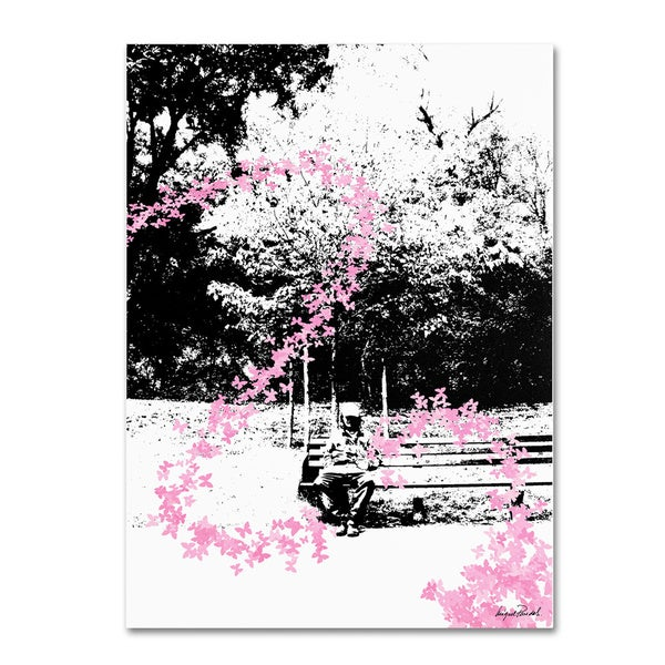 Miguel Paredes 'Pink Butterflies' Gallery-wrapped Canvas Art 7106838