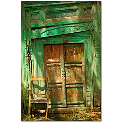 Keith Berr 'Temple Door' Gallery-wrapped Canvas Art