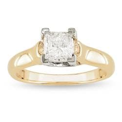 Miadora 18k Gold 1ct TDW Certified Diamond Solitaire Ring (F-G, I1-I2)