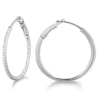 14k Yellow Gold 1/4ct TDW Diamond Hoop Earrings (G-H, SI2)